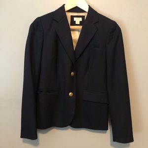 J. Crew Wool Blazer - Navy with Gold Buttons